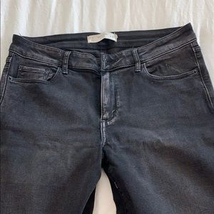 Faded black ankle skinny jeans size 29